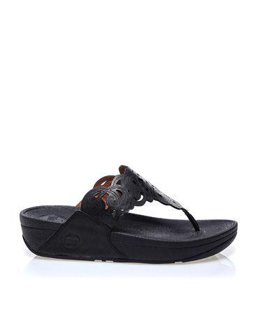 Fitflop Siyah Deri Parmak Arası Terlik   #sandalet #düzsandalet #parmakarası #bantlısandalet #parmakarasısandalet #parmakarasıterlik #plajterliği #sandals #fitflop #fashion #trend #style #look #moda #2016modası