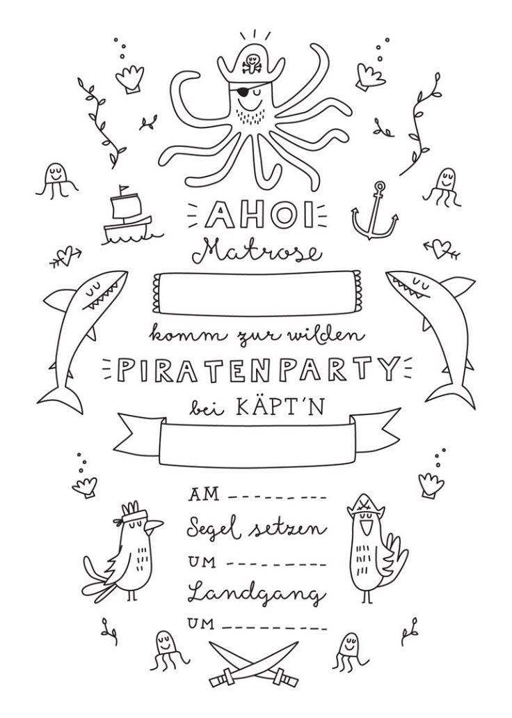 Bald geht es los – wir wollen eine Piratenpartei gründen! Dafür sammeln …   – Kindergeburtstag Pirat