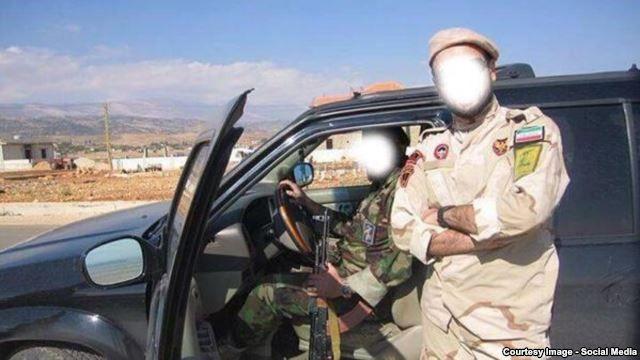 Iranian Revolutionary Guards pose near the Lebanon-Israeli border.  These pictures appeared on the IRGC twitter account on October 24 and December 17 2014 with the caption: We are nearing the heart of corruption in the world, the Zionst regime, and God-willing, will pass over their bodies.