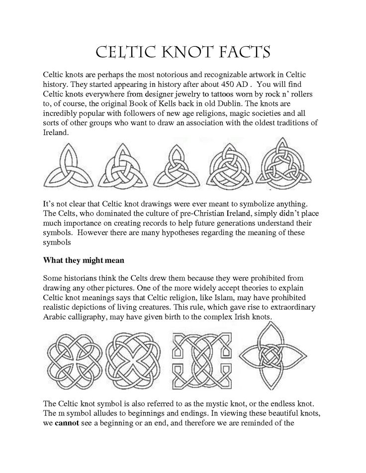 Celtic Designs and Their Meanings | Celtic Symbols And Their Meanings For Tattoos Celtic knots are perhaps ...