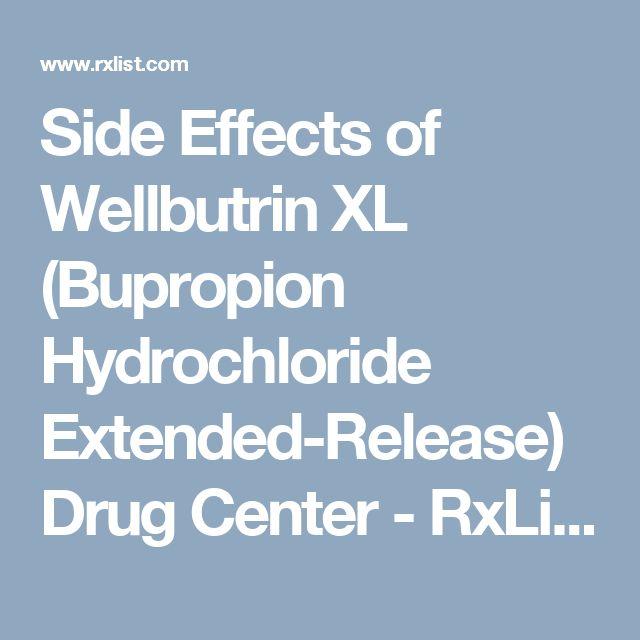 Pin on Side effect's Wellbutin Xl