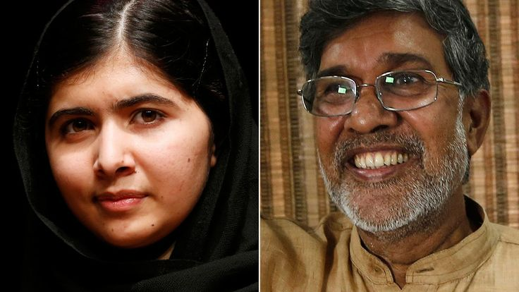A Pakistani advocate of girls' education, Ms. Yousafzai, 17, is the award's youngest recipient. Mr. Satyarthi of India shared the prize for his work to protect children from exploitation.