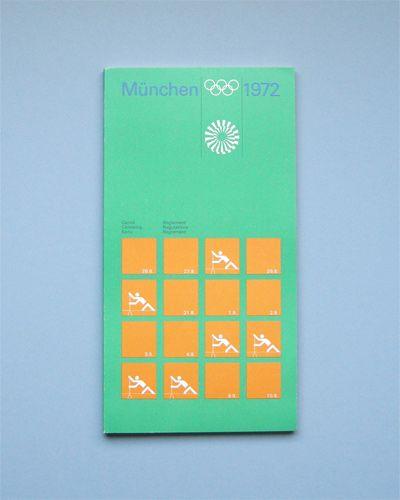 Munich 1972 Olympics Regulations Canoeing - Otl Aicher & Rolf Müller