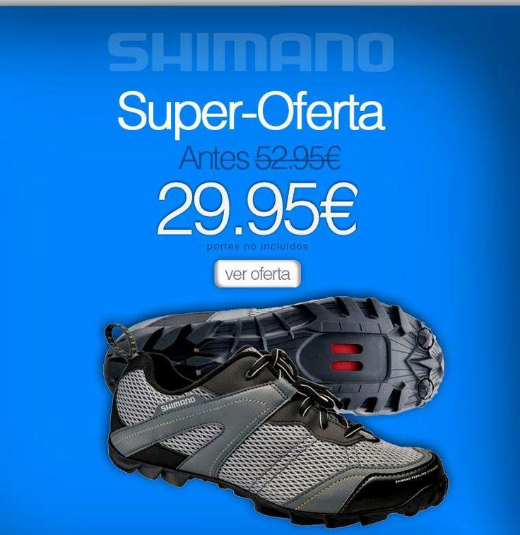 OFERTA de la Semana! Zapatillas Shimano Montaña MT23 - Solo por: 29.95€  Ahora en: http://limite24h.com/  #zapatillas #shimano #oferta #bikestocks