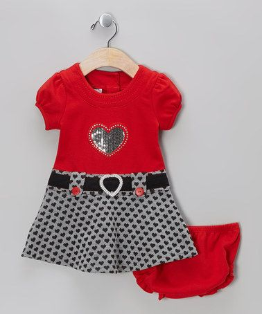 Take a look at this Red Heart Dress - Girls by Samara on #zulily today!