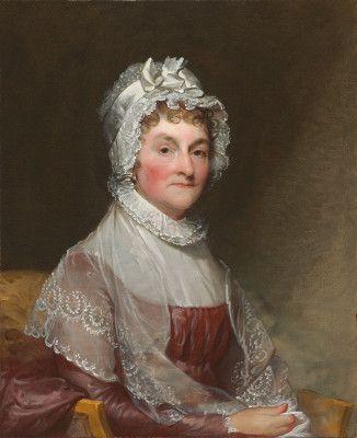 Abigail Smith Adams (Mrs. John Adams) 1800/1815 by Stuart, Gilbert (painter, American, 1755 - 1828). National Gallery of Art. 1954.7.2