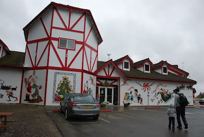 That is Santa Claus House in Fairbanks, Alaska. Open almost 365 days of the year! its a wonderful place to get an autographed book by santa, take pics with his reindeer, buy momentos in the month of may and even send yourself a postcard, or a letter from santa to your son, grandson or any loved one.. more details click on the pic