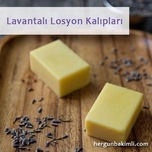 Lavantalı Losyon Kalıpları - Lotion Bars