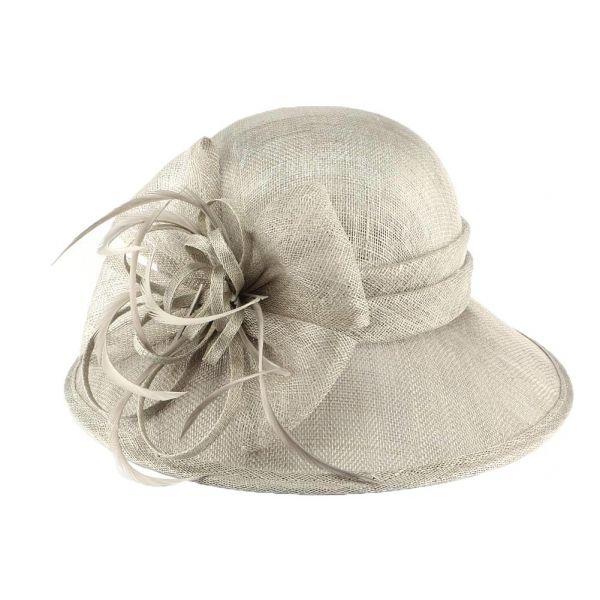 Chapeau Mariage Gris en paille sisal Thing #chapeaumariage #mariage #chic #mode #fahion #bonplan #startup