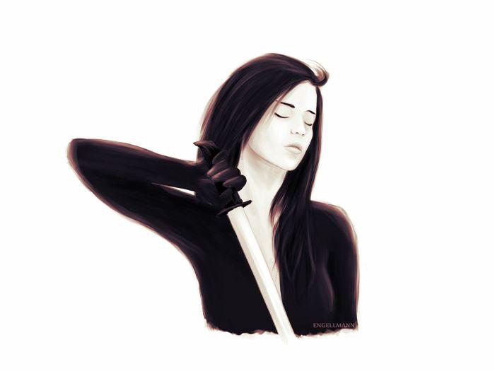 Jane #sexy #sketch #fantasy #sky #ghosts #woman #warrior