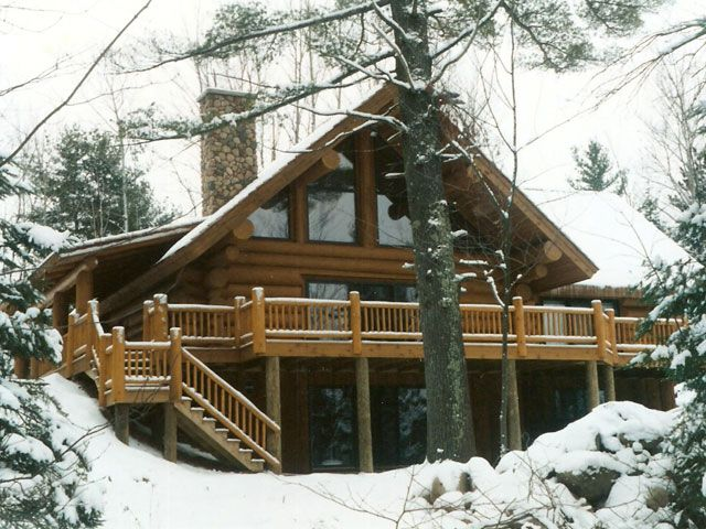 Best Love Of Logs Images On Pinterest - Camp dancing bear log home