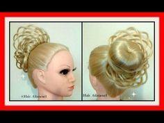 ELEGANT BASKET BRAID UPSTYLE HAIRSTYLE / HairGlamour Styles / Hairstyles - YouTube