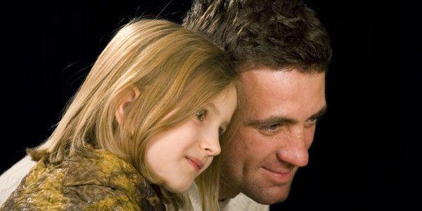 The man ang his daughter