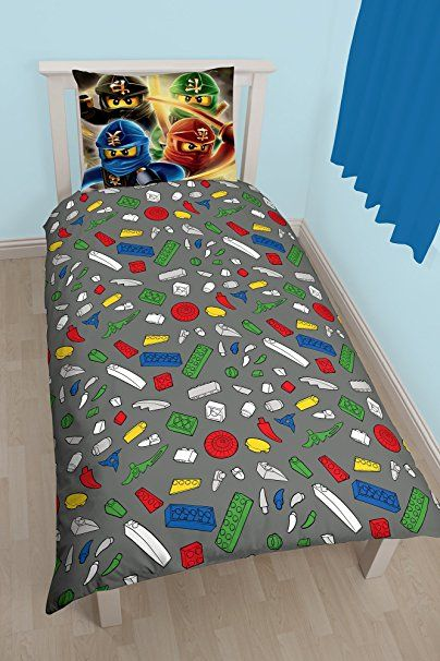 lego ninjago bettw sche 2 tlg 80x80 135x200 cm 100 baumwolle deutsche standard gr e. Black Bedroom Furniture Sets. Home Design Ideas