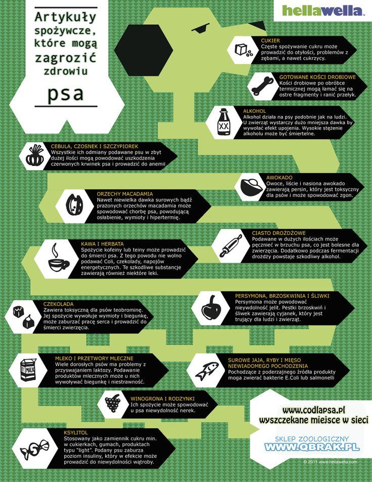 Artykuły spożywcze szkodliwe dla psów: http://codlapsa.pl/artykuly-spozywcze-ktore-moga-zagrozic-psiemu-zdrowiu/