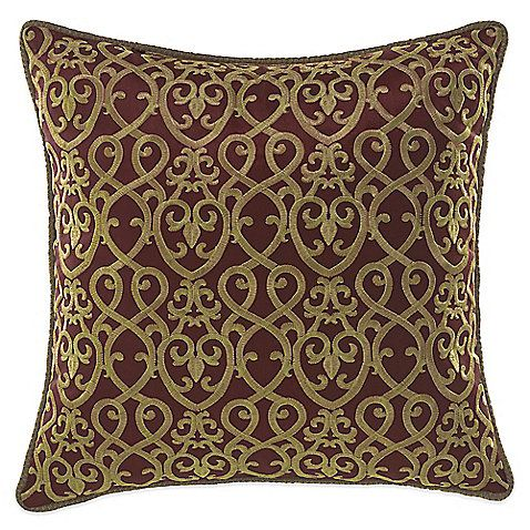 The Ryland Fashion Throw Pillow From Croscill Is An