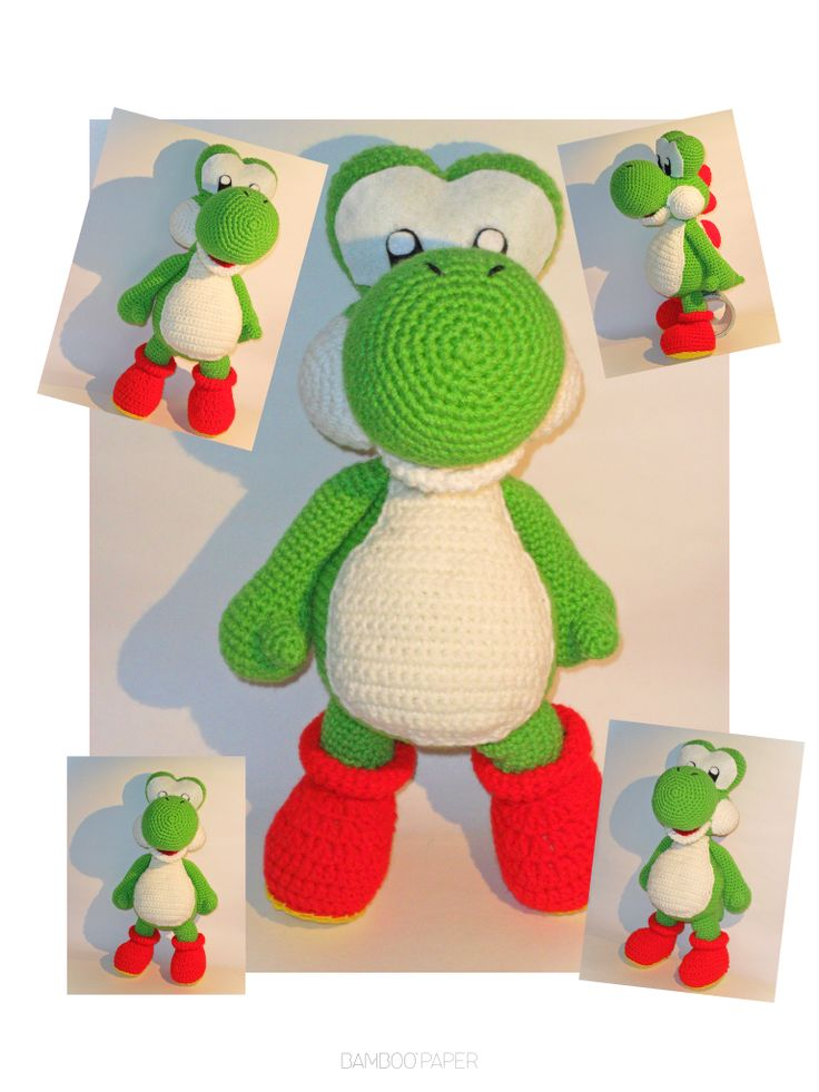 Yoshi crochet doll by Tia-tony.deviantart.com on @DeviantArt