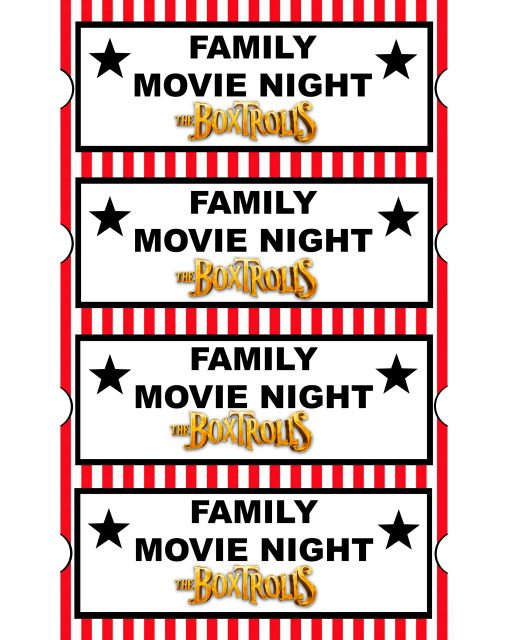 39 best Movie Night images on Pinterest Creative, Dinner and - print your own tickets template free