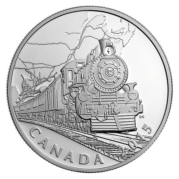 The Canadian Home Front: Transcontinental Railroad - 1 oz. Fine Silver Coin (2015) - Mintage: 7,500