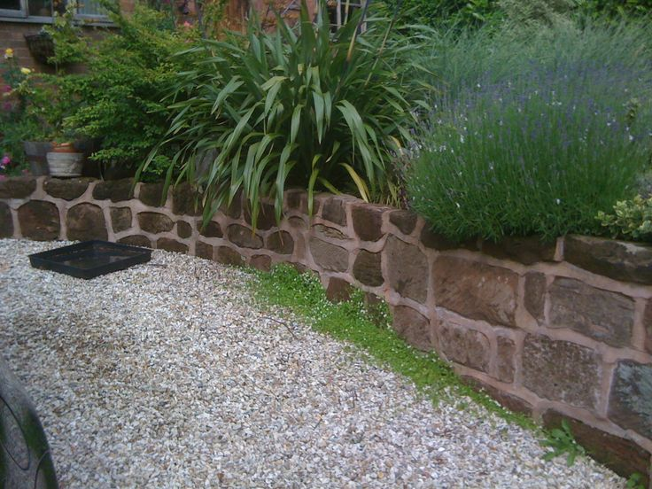 Sand stone wall