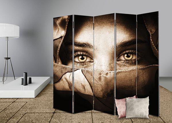 Διακοσμήστε και διαχωρίστε με στυλ το χώρο σας με διακοσμητικά παραβάν #digiwall από την κατηγορία ΕΡΓΑ ΤΕΧΝΗΣ : Αισθησιακά μάτια μυστηριώδους γυναίκας