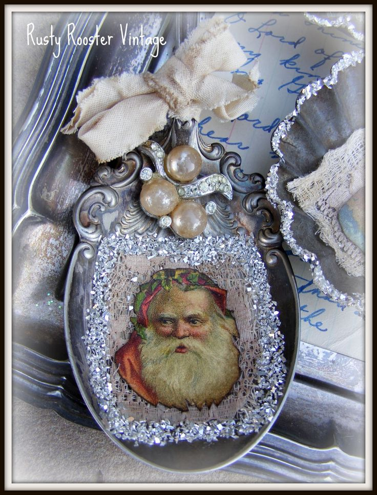 vintage christmas spoon ornament