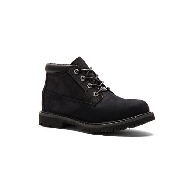 Timberland Nellie Boot in Black Nubuck Preloved black Nellie timberland short boots in black no stains, only some dust from storage. In excellent preloved condition Timberland Shoes Lace Up Boots