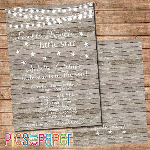 Twinkle Twinkle Little Star Baby Shower Invitation by PicsandPaper
