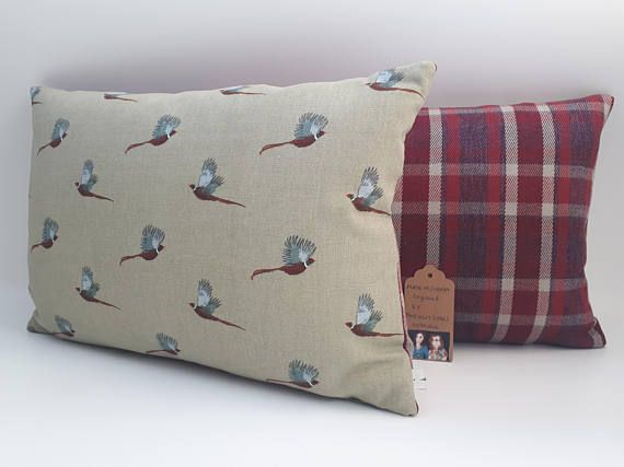 Two Ugly Sisters  Handmade Sophie Allport Pheasant Cushions