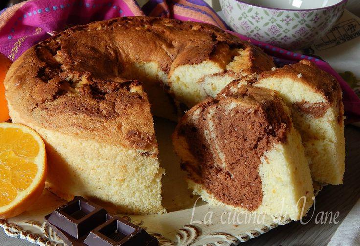 Chiffon cake arancia e cioccolato marmorizzata