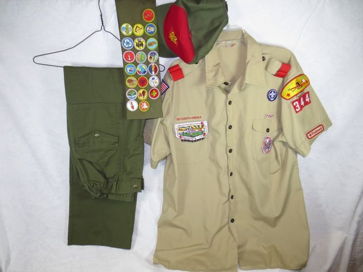 USA-Made BOY / EAGLE SCOUT SHIRT PANTS SASH 21 BADGES & CAP ~Lightly Used 1980s