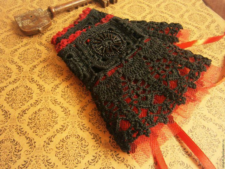 Купить Черные кружевные манжеты. Викторианская готика. - черный, однотонный, ажурные манжеты, манжеты кружевные