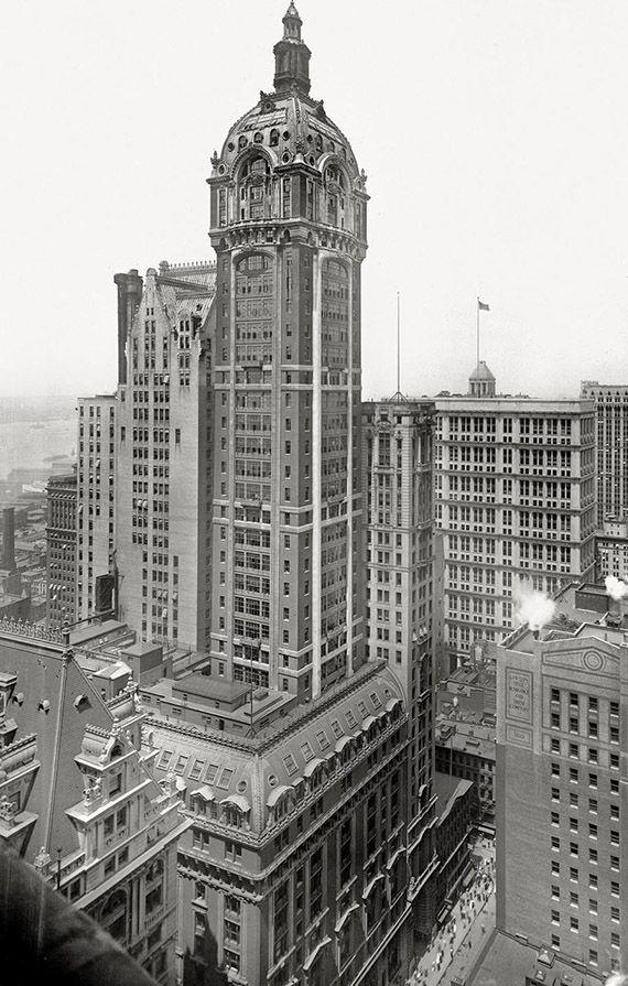 Broadway and Liberty Street.. Washington Life Insurance Co. Bldg... Singer Building.. 1908