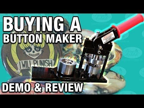 ▶ Button Maker Review & Demo - Great for those of you thinking about buying one.