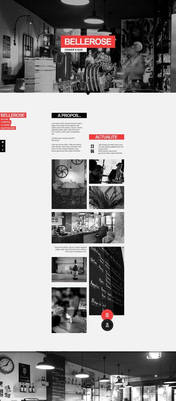 Web | Bellerose Concept by Thomas Le Corre, via Behance