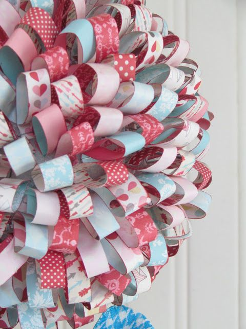 Valentine's Paper Ribbon Topiary...  Simply Stunning - tutorial for this on Echo Park blog.