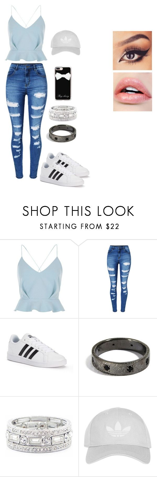 """""""Kayce Brewer Inspiration"""" by brauerisabelle on Polyvore featuring River Island, WithChic, adidas, Sole Society, Topshop and Casetify"""