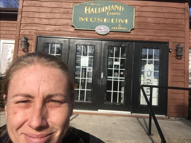 Researcher Sarah visited the Haldimand County Museum. — in Cayuga, Ontario.