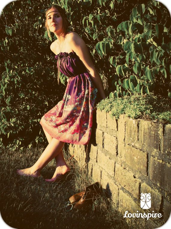 Handmade design by Lovinspire. Purple multipurpose boho summer dress. Sun up, shoes off and rock on!