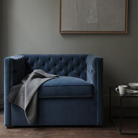 american made - mercer tufted club chair from canvas