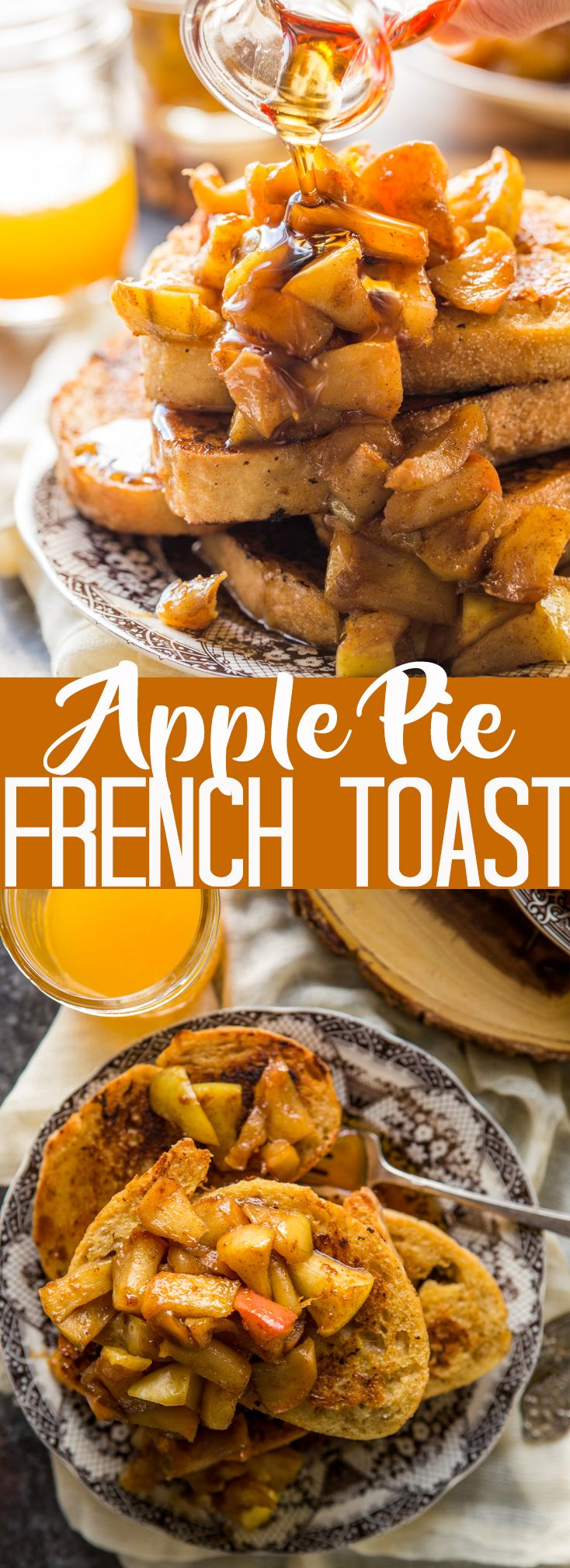 This Apple Pie French Toast is the best way to usher in fall! | Fall Breakfast | Apple Recipe| Best French Toast | Apple French Toast #ad #applerecipe #fallrecipe