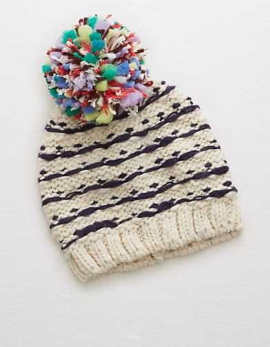 38c68d9c7 Aerie Colorful Beanie - | christmas wishlist | Winter hats, Knitted ...