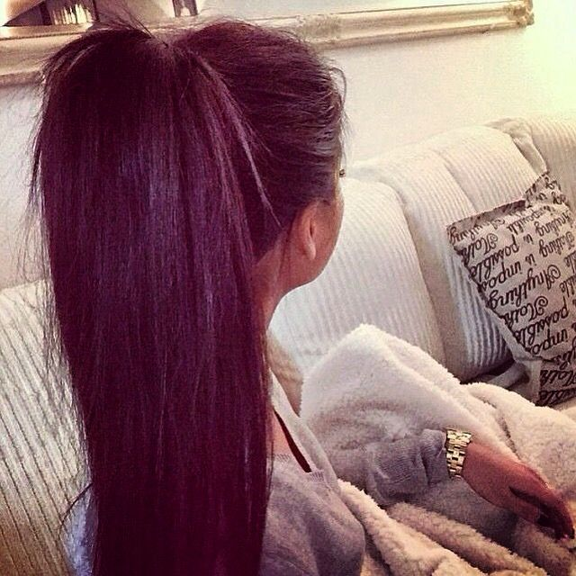 Perfect high ponytail
