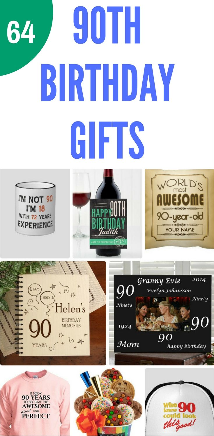 90th Birthday Gift Ideas - Delight your favorite 90 year old with a memorable 90th birthday gift! #BirthdayGifts