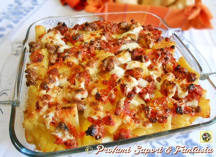 Tortiglioni gratinati al forno  Blog Profumi Sapori & Fantasia