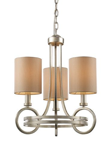 ELK Lighting Lighting 31005-3 New York Three Light Chandelier In Renaissance Silver
