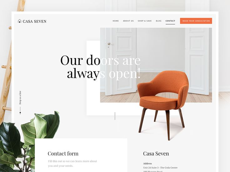 The contact page design for Casa Seven. Open and friendly so it fits perfectly within the designs of the rest of the website. What do you all think? More from Green Chameleon: — The Team — Twitter...