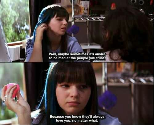 The Sisterhood of the Traveling Pants: sometimes it's easier to be mad at the people you love