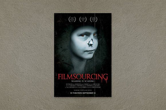 Horror Movie Poster Template by Filmsourcing on @creativemarket