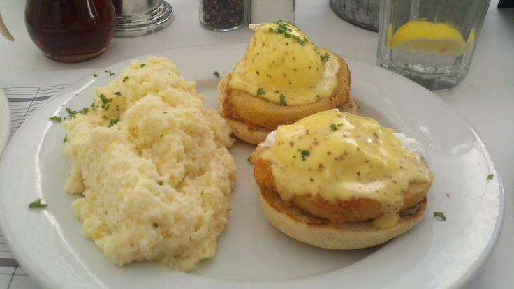 Fried Green Tomato Benedict at Great Southern Cafe in Seaside, FL